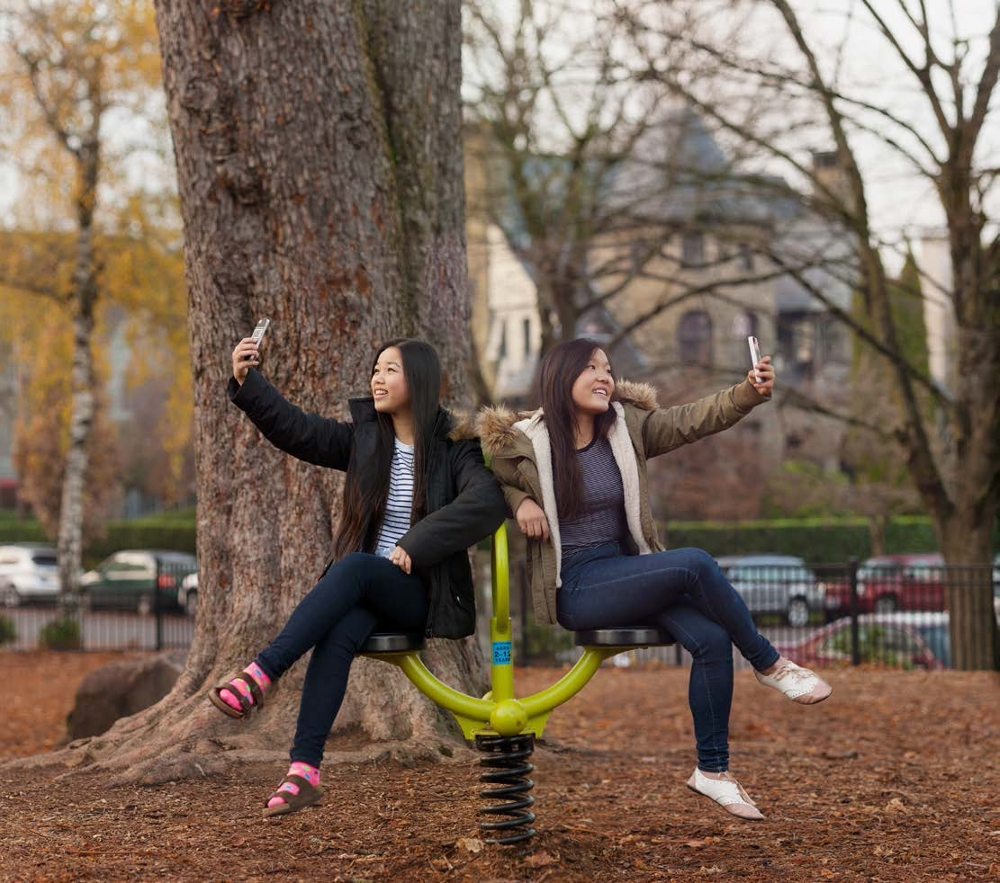 Ameya, Ellie, Selfie in the Park, 2014