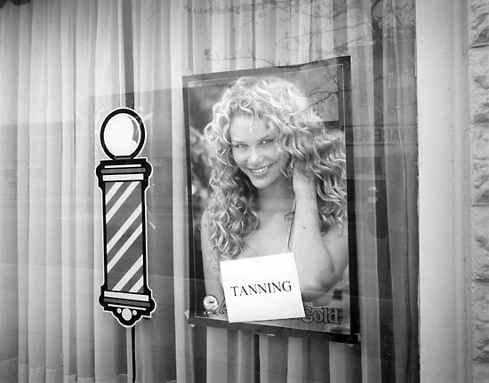 Tanning Store Window, Chicago, IL 2003