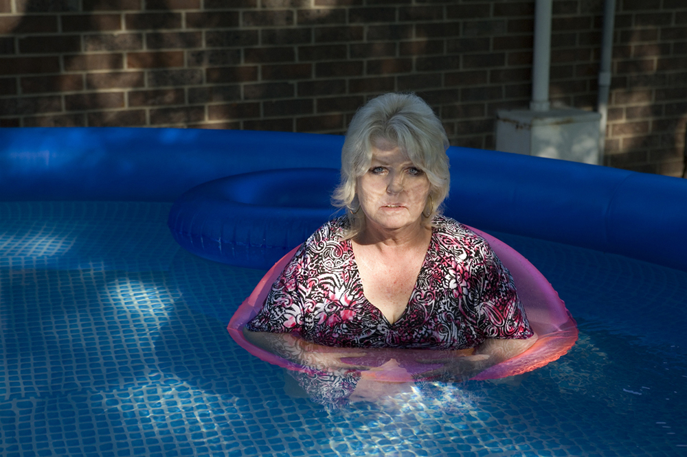 Mom Cooling Off in the Pool, 2011