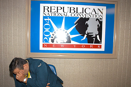 Republican National Convention Sign, Hallway, Republican National Convention, New York, 2004