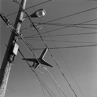Airplane with Wires and Street Light, 1999