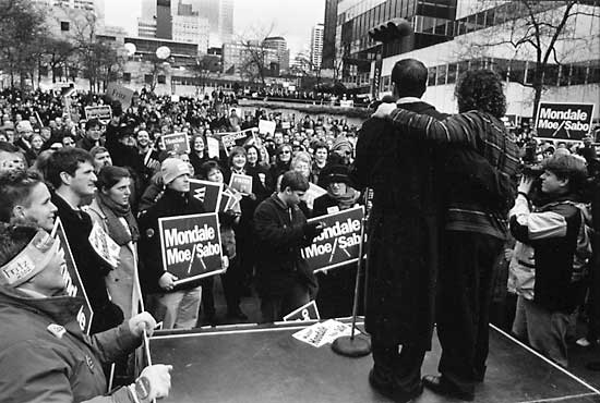 David and Mark Wellstone on Election Day, 2002
