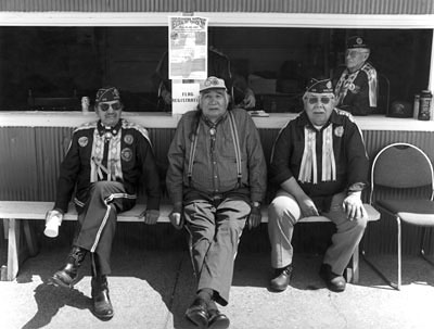 Ho Chunk Veterans, George Stacey, Ebeneezer Hall, Keith Snake, 2001