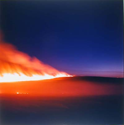 Prairie Fire Near Cottonwood Falls Kansas, 1997