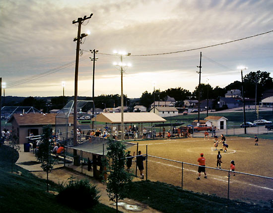 Girls Softball Game, Plate City, Missouri, 2000