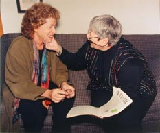 Susan Sussman and Sarajane Avidon Collaborating, 1999
