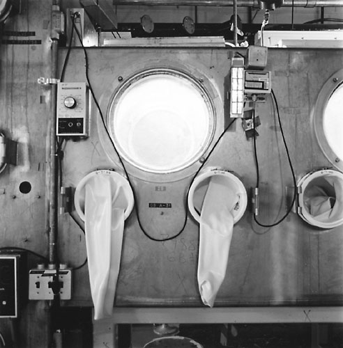 Process Glove Box, Bldg. 771, Rocky Flats Nuclear Weapons Plant, 2001