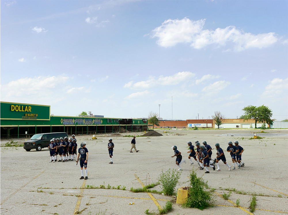 Police Cadet Riot Control Training, Northeast Side, Detroit, 2011