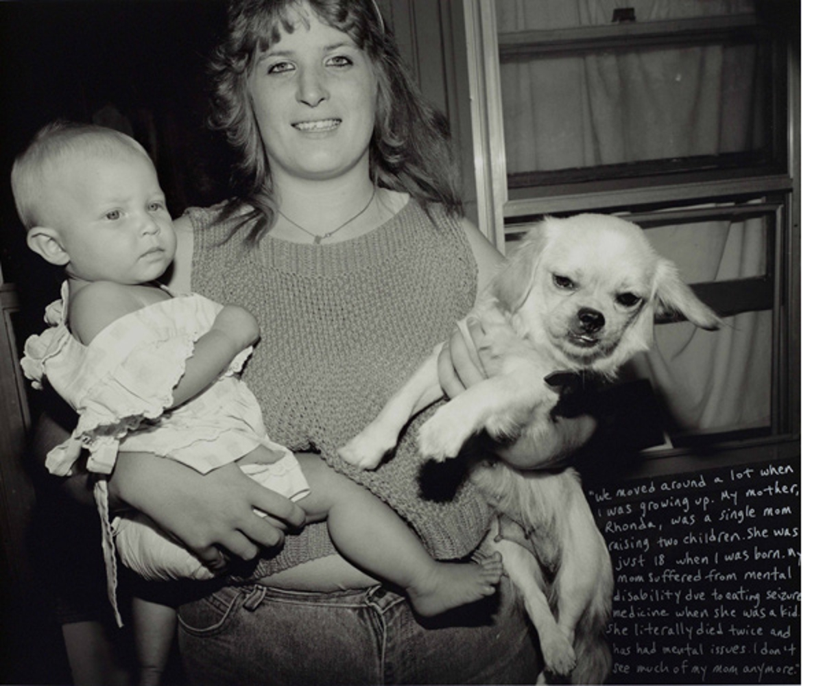 Justin and Rhonda Monroe with Stormy, Pigeon Hill, 1998