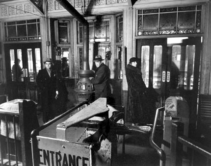 El Station, Interior, Sixth and Ninth Avenue, from New York Portfolio II