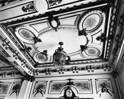 Ceiling Decorations, Plaza Hotel Lobby, Chicago, from the Historic American Buildings Survey