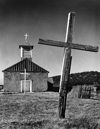 Church and Cross, Chilili, New Mexico