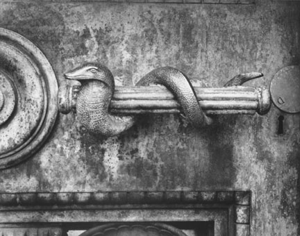 Door Handle, Schoenhofen Pyramid, Graceland Cemetery, Chicago