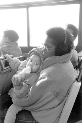 Mother and Child on a Bus, Chicago, from Changing Chicago