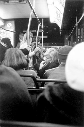 Woman Riding a Bus, Chicago, from the Changing Chicago Project