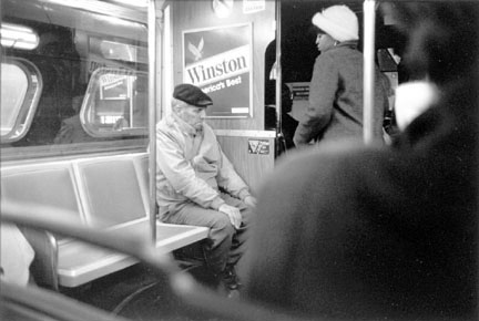 Man and Woman Riding a Bus, Chicago, from the Changing Chicago Project