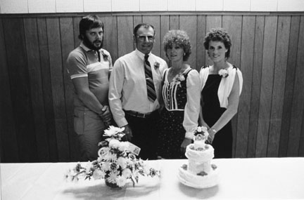 Steven, Dennis and Christy Sellner, 25th Wedding Anniversary, Legion Hall, Morgan, Minnesota, from the
