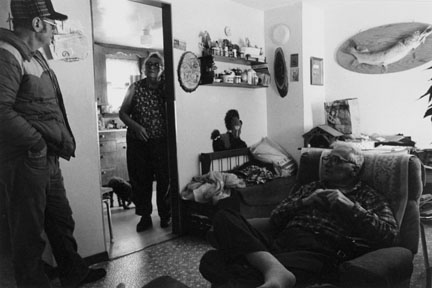 Dennis Sellner, Alvina and Eddie Seidie in their Home, Sleepyeye Minnesota, from the