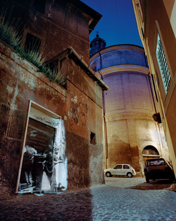 On Via S. Angelo in Pescheria. On Location Slide Projection, Rome, Italy, 2002