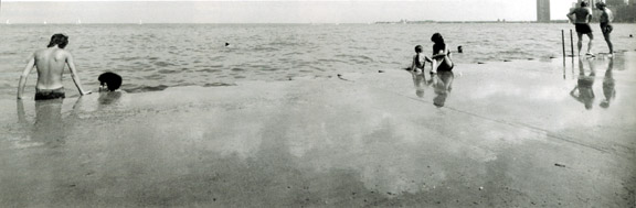 Bathers in Lake Michigan