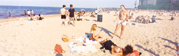 Oak Street Beach, Chicago, from the Changing Chicago Project
