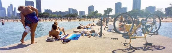 Oak Street Beach, Chicago, from the