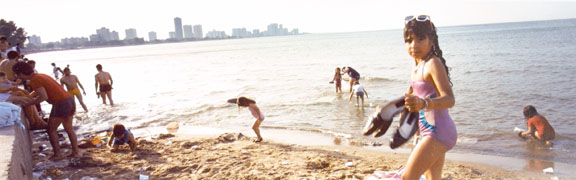 Montrose Beach, Chicago, from the