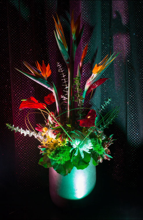 Flower Arrangement on the Zuiderdam Cruise, from the