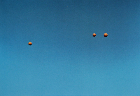 Throwing Three Balls in the Air to Get a Straight Line (Best of Thirty-Six Attempts) (detail)