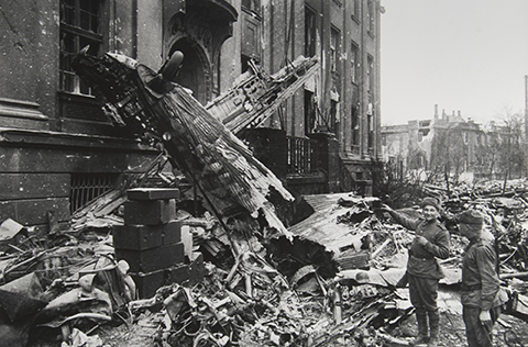 Down German Plane, Breslau, Spring 1945