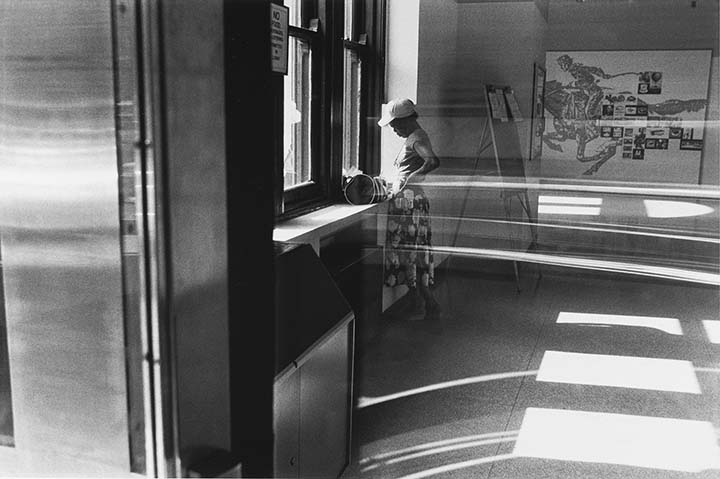 A Woman in the Cadman Plaza Post Office, Brooklyn, NY