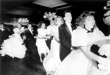 Line of Dancers - Prcua Prince Charming and Cinderella Ball, Lexington House, Hickory Hills, Illinois, from Changing Chicago