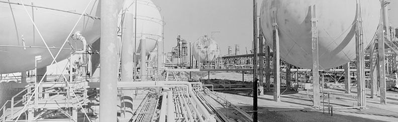 Spheroid Tanks, Citgo Refinery, Lake Charles, Louisiana