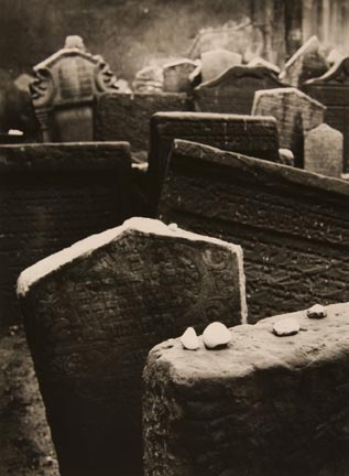 Old Jewish Cemetary in Prague (stones on graves)
