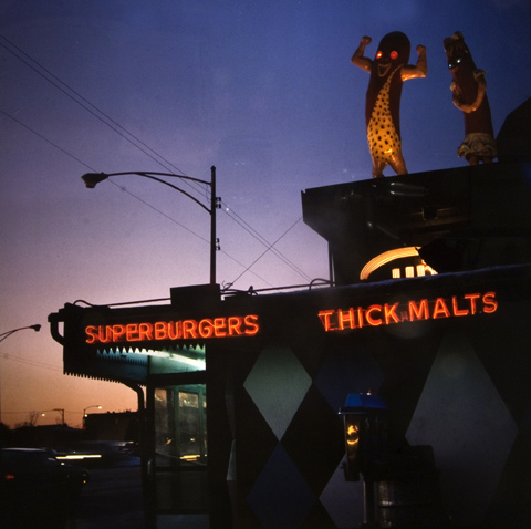 Superdawg, Dusk, Milwaukee and Devon, from the