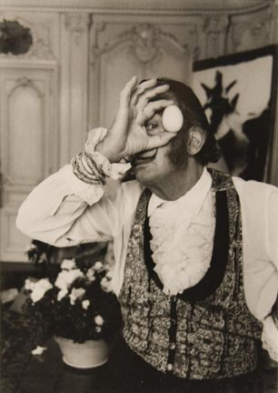 Salvador Dali with Egg