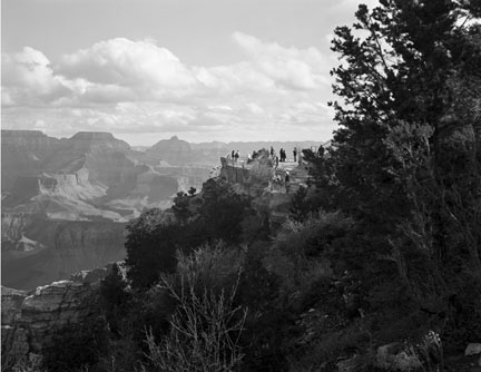 Visitors, Grand Canyon, AZ, from the