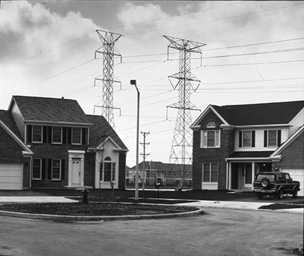 Homes with High Voltage Towers, from Changing Chicago