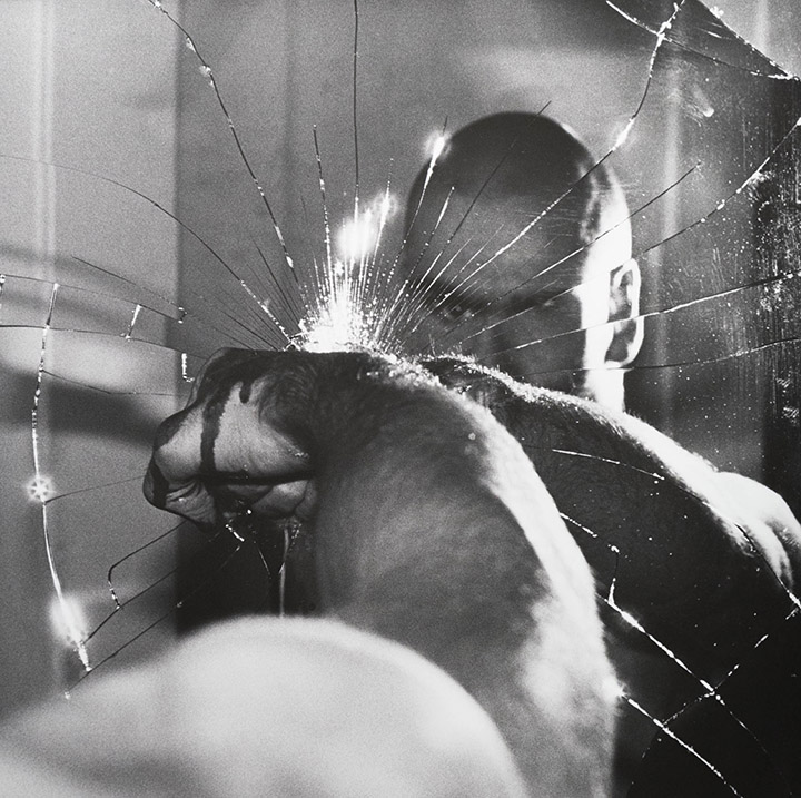Untitled (Henry Rollins' Profile Reflected in a Broken Mirror)