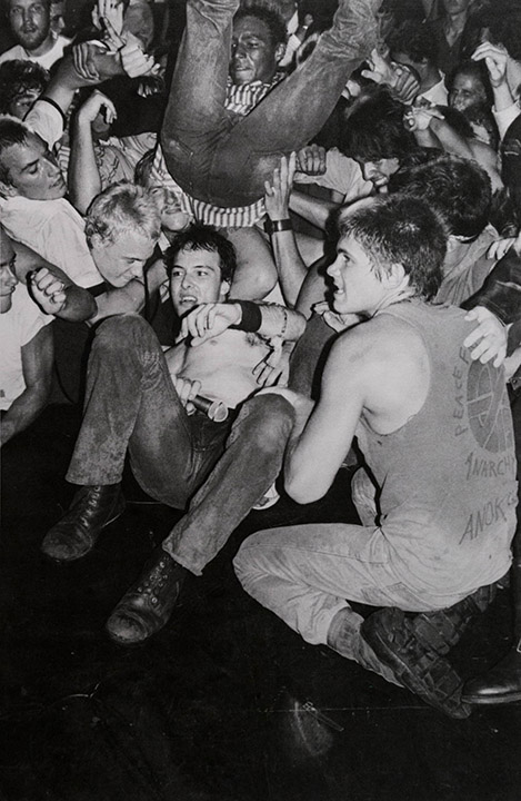 Untitled (Jello Biafra of the Dead Kennedys in the Crowd)