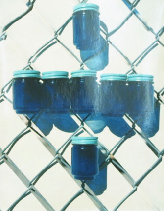 Blue Glass Jars, from