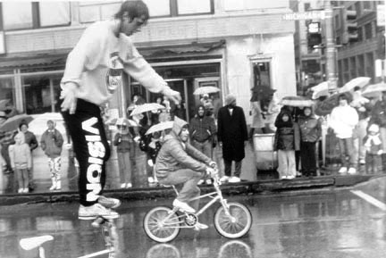 Trick Bicycle Riders, McDonald's Christmas Parade, Michigan Avenue at Jackson Boulevard, from Changing Chicago