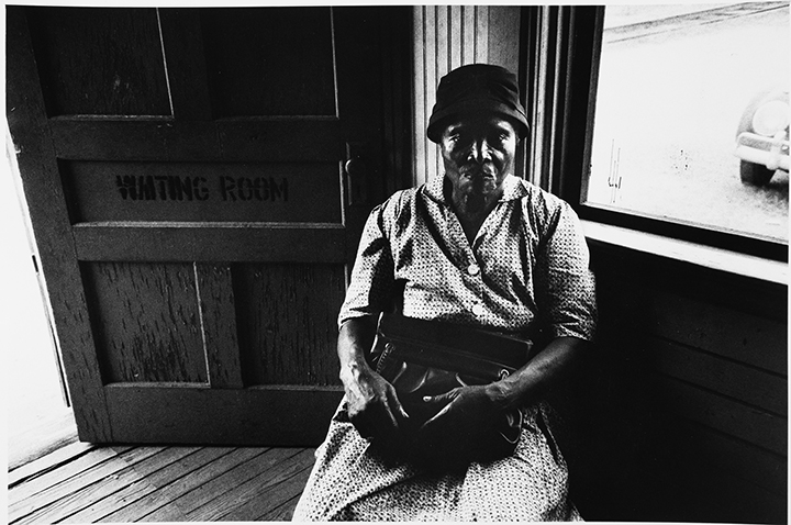 Woman sitting in waiting room, Bayou, MS.