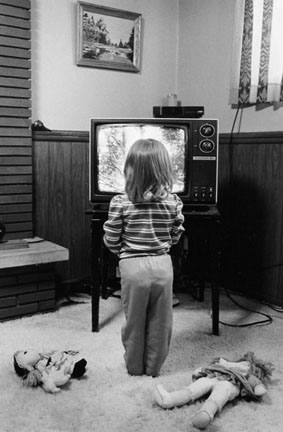 Child Watching TV, Calumet City, from Changing Chicago