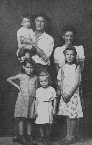 Untitled (six-person family, standing)
