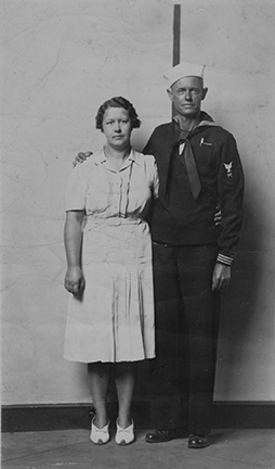 Untitled (sailor and woman, standing)