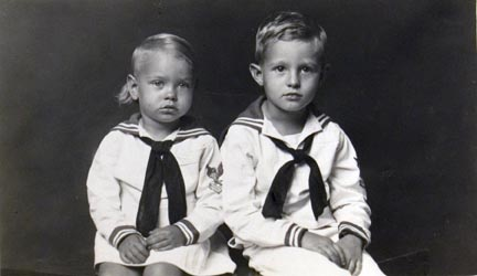 Untitled (girl and boy dressed in sailor suits)