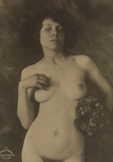 Untitled #76 (nude with bouquet)