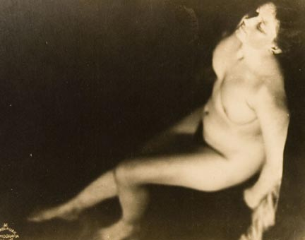 Untitled #36 (seated female nude, viewed from above left [horizontal])
