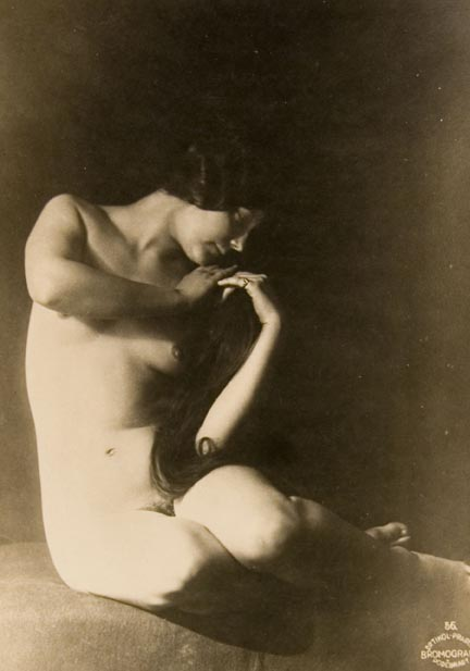Untitled #56 (seated female nude, 2 hands under left cheek)